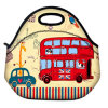 Cartoon Insulated Neoprene Lunch Tote Bag Picnic Bag Cool Bag with Zip & Handles
