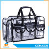 PVC Transparent Cosmetic Shoulder Bag with Zipper