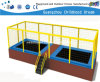 Rectangle Outdoor Children Trampoline with Enclosure (HD-15106)