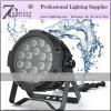 18*12W Outdoor LED Lighting RGBW Flat LED Stage Equipment