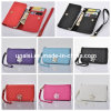 Diamond PU Bifold Long Purse Case Cell Mobile Phone Wallet
