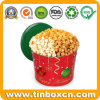 Large Popcorn Christmas Gift Tin for Metal Food Storage Box