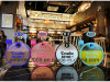 Fashionable Round Flate Kettle Frosted Personality Handy Water Bottle