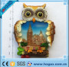 Polyresin Resin Flatback Hand Painted Owl Magnet