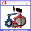 Ductile Iron Metal/Resilient Seat Lug Type Gear/Level/Handle Butterfly Valve