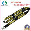 New Year Polyester Woven Neck Lanyards with Customized Logo for ID Cards