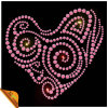 Uniflying New Design Hotfix Heart Rhinestone Motif (SP)