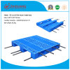 1100*1100*155mm HDPE Plastic Tray Warehouse Storage Heavy Duty 4 Way Racking Loading Grid Plastic Pallet with 3 Runners (ZG-1111B 8 steel)