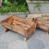 Handmade China Supply Wooden Flower Pot, Pots for Garden