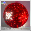 Holiday Outdoor LED Christmas Decoration Snowflake 3D Motif Ball