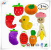 12-15cm/ 4.7 -6 Inch Squeaky Fruits and Vegetables Plush Puppy Dog Toys for Small Dogs