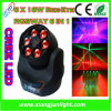 6PCS 15W 4in1 Clay Packy Beam Moving Head LED