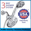 3-Way Rainfall Shower Combo Combines Luxurious Rain Shower Head Handheld Shower Together