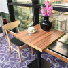 High End Anti Scratch and Fire Retardant Food Court Table with Golden Sealing