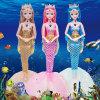 Girl Toy Birthday Gift 60cm Barbie Doll Set Smart Dialogue Light Music Mermaid Princess Doll
