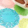 Flower Design Silicone Teapot Coaster for Promotional Gift