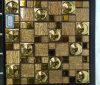 3D Golden Electroplated Glass Mosaic Tile