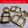 Brass Finished Zinc Alloy Roller Pin Belt Buckle