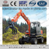 Widely Used New Small Wheel Excavators Catching Wood/Sugarcane Machine
