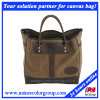 Leisure High Capacity Waxed Canvas Tote Bag for Men