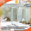 Russian Frameless Wood Aluminum Glass Folding Doors, Good View Effects and Good Lighting Quality Glass Door