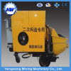 Construction Concrete Transfer Trailer Pump with Electric Motor