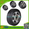 Natural Black Rubber Wheels with Elastic Tyre