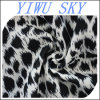 Black and White Leopard Pattern Printed Scuba Stretch Fashion Fabrics, Garment Fabric