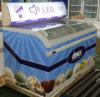 528L Energy Saving Curved Glass Ice Cream Chest Freezer