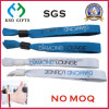 Advertising Polyster Fabric Silk Pring Custom Logo Woven Bracelet