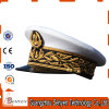 High Quality Stylish Military Officer Peak Cap with Leaf Embroidery