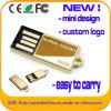 Mini Design USB Flash Drive Golden Metal USB Memory (ED012)