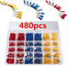 480PCS Assorted Insulated Electrical Wire Terminal Crimp Spade Connector Kit Box