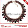 Colorful Crystal Vintage Glod Jewelry Chokers Wedding Necklace