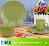 16-Piece Eco Ware Green Stoneware Dinner Ware