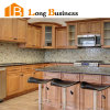 Solid Wood Island Kitchen Cabinet with Glass Door (LB-DD1013)