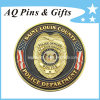 Police Challenge Metal Custom Coins Medallion with Gold Plated