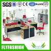 Office Desks 4 Seats Partition Workstation L-Shaped Office Table (OD-29)