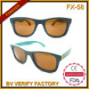 Fx-58 New Products Skateboard Wood Sunglass Wholesale