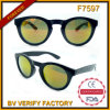 F7597 Latest Black Frame Vintage Round Sunglasses