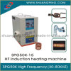 15kw 30-100kHz High Frequency Induction Heating Machine Spg50K-15