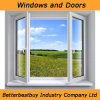 Outward Opening Casement Aluminum Window with Double Glass