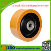 Polyurethane Mold-on Cast Iron Caster Wheel, Ball Bearing Bore, European Type