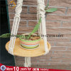 Macrame Plant Hanger with Wood Table