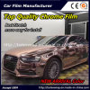 New Arrival Color~~ Top Quality Glossy Chrome Smart Car Vinyl Wrap Vinyl Film Good Stretch