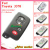Smart Key for Toyota with 3buttons Ask312MHz 3370 ID74 Wd03 Wd04 Camryyarisrv4reizvios 2008 2013 Silver