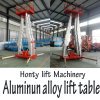 Portable Telescopic Man Double Mast Working Lift Aluminum Alloy Hydraulic Lift Table