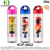 Lovely Plastic Fresh Fruit Infuser Water Bottle with Customized Logo, BPA Free Plastic Water Bottle (HDP-0602)