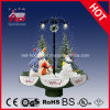 Holiday Fashion Design Streetlamp Snowmen Crafts with Snow and Music