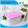 Hotsale Colorful Heavy Duty Capacity Plastic Storage Box PP Material Plastic Bins with Handles and Wheels for Household Package Storage (15 Litre to 150 Litre)